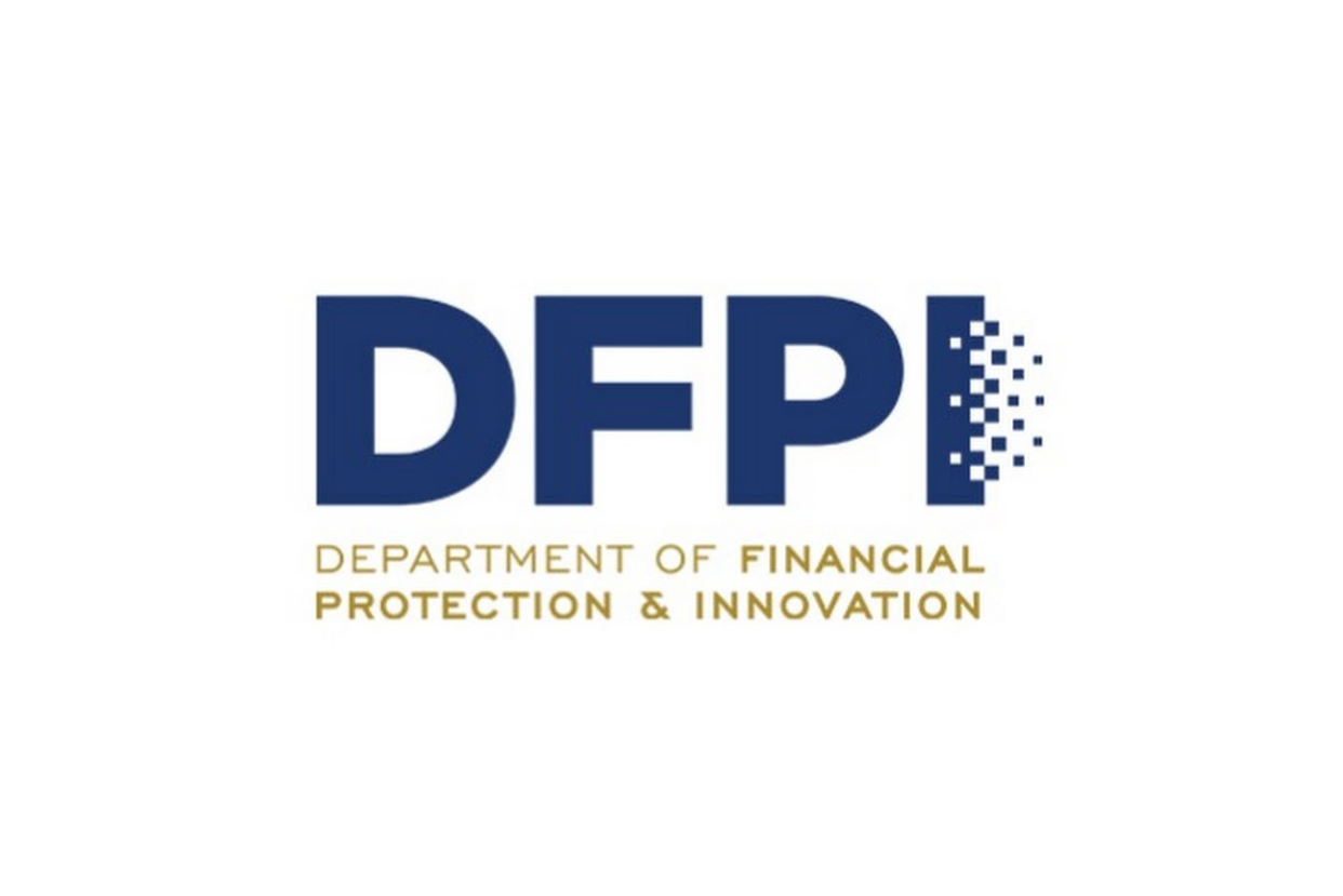 Logo for the California Department of Financial Protection and Innovation
