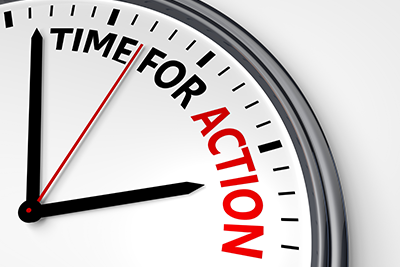 """Image of """"Time for Action"""" clock"""