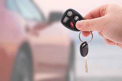 Image of keys with new car