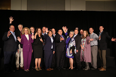 The California and Nevada Credit Union Leagues combined board of directors, with Leagues' President and CEO Diana Dykstra (center).