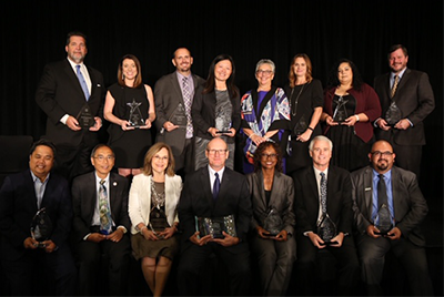 "Credit Union Award honorees at ""REACH"""