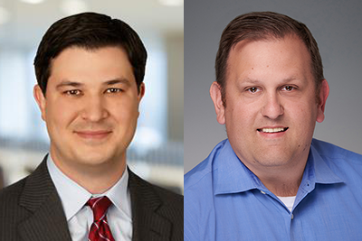 L-R: Jason Haley, managing director of the investment management group for ALM First, and Jon Jeffreys, managing partner at Callahan & Associates and vice president/assistant treasurer for TRUST Mutual Funds.