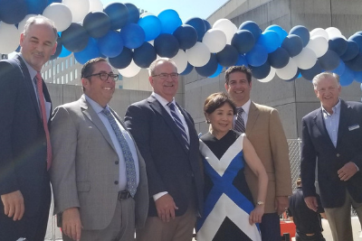 Local Congresswoman Doris Matsui, D-CA (third from left), at the celebration ceremony for the SAFE Credit Union Convention Center and Performing Arts District with credit union and city leaders.