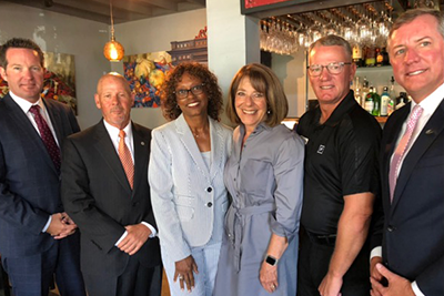 San Diego-area credit union leaders with Congresswoman Susan Davis, just one of many visits between local credit unions and members of Congress during the August recess.