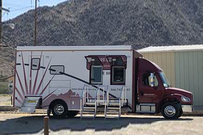 Desert Valleys FCU is sending its mobile branch to Trona, CA every day to serve members who need on-the-spot services after being impacted by recent earthquakes.