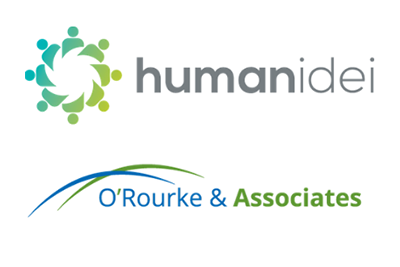 Logo images for Humanidei and O'Rourke and Associates