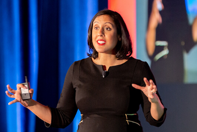 """Erica Dhawan, CEO of Cotential and leading authority on """"connectional intelligence"""" (CxQ)."""