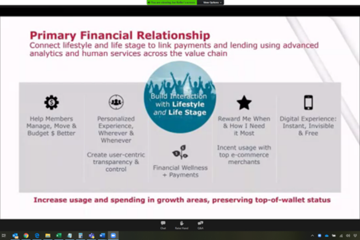"""Primary Financial Relationship"" presentation slide"