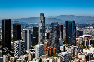Image of downtown Los Angeles from air