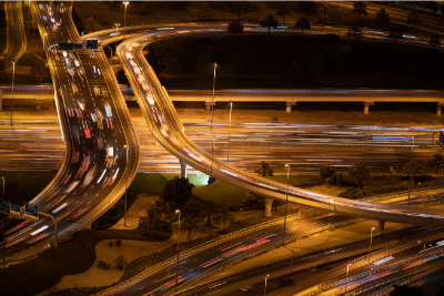 Image of cars on a freeway