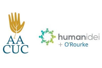 Logo images for AACUC and Humanidei