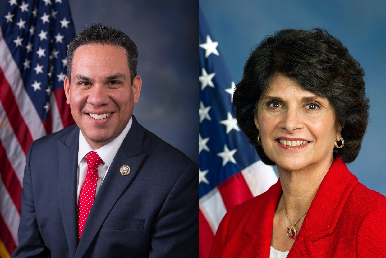 Reps. Pete Aguilar and Lucile Roybal-Allard