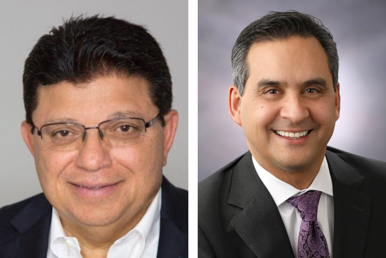 L-R: Nader Moghaddam, CEO of Financial Partners CU; and Jose Lara, COO of SchoolsFirst FCU