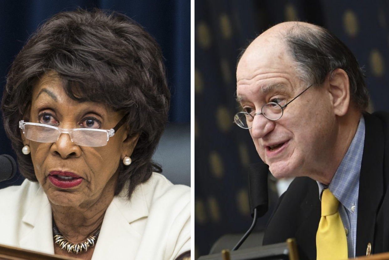 L-R: House Financial Services Committee Chair Maxine Waters (D-Los Angeles); and Rep. Brad Sherman (D-Sherman Oaks).