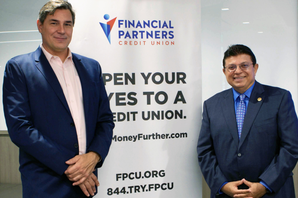 L-R: Chris Thornberg, founding partner of Beacon Economics, and Nader Moghaddam, CEO of Financial Partners CU
